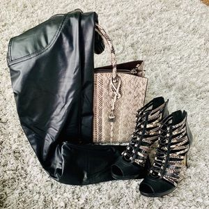 Black Leatherette Stretch Pants